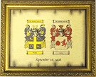 Coat of Arms Anniversary Bond with Frame