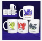 Lions of Heraldry Coffee Mugs