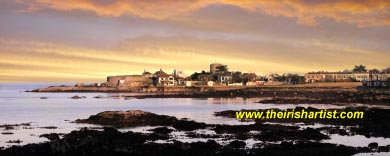 February evening, Sandycove Panorama